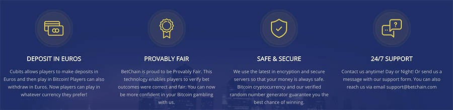 betchain casino customer service